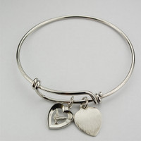 (BN638S) YOUTH  HEART/DOVE PEWTER