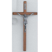 (BV10-148HS) 10 BEVELED WALNUT CRUCIFIX""