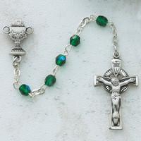 (C48DW) 3MM GREEN IRISH COMM ROSARY
