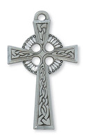 (D5AC) PEWTER CELTIC CROSS