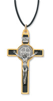"(119-06) 3"" GOLD ST. BENEDICT CRUCIFIX"