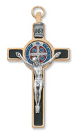 "(119-08) 3"" GOLD ST BENEDICT CRUCIFIX"""