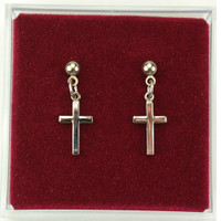 (ERC6099P) RF CROSS EARRINGS