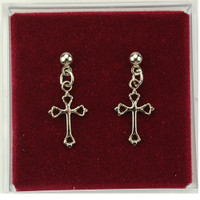 (ERC8003P) RF CROSS EARRINGS