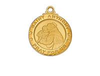 (J700AN) G/SS SML ST. ANTHONY MEDAL 18""