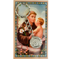 (KRD575ANC) ST ANTHONY KEYRING/PRAYER CARD