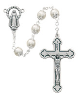 (263R) 7MM PEARL CAPPED ROSARY
