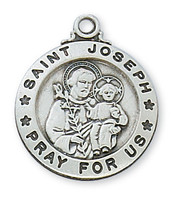 """(L600JS) SS ST. JOSEPH 20"""" CHAIN & BOX"""