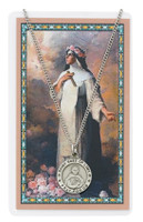 (PSD600RS) ST ROSE LIMA PRAYER CARD SET