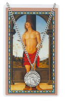 (PSD600SB) ST SEBASTIAN PRAYER CARD SET