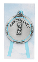 (PW12-B) BOY CRIB MEDAL/CARDED