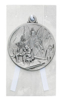 (PW12-GA) GUARDIAN ANGEL CRIB MEDAL/CARD