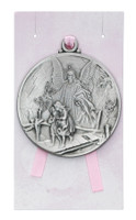 (PW12-GAP) GUARDIAN ANGEL CRIB MEDAL/CARD
