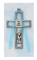 (PW13-B) PEWTER BOY CRIB CROSS/CARDED
