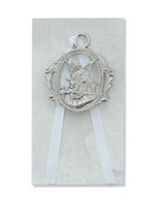 (PW6-W) GUARDIAN ANGEL CRIB MEDAL WHIT