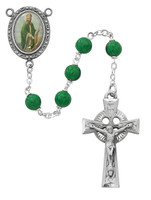 (R206DF) 7MM GREEN ST. PATRICK ROSARY