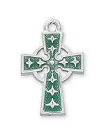 "(RC8083E) RF ENAMEL CELTIC CROSS 18""CH&B"