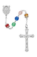 (R613RF) RF MULTI COLOR ROSARY, BXED