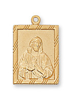 """(J811) G/SS SQUARE SACRED HEART 18""""CH"""