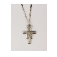 """(D9076) PEWTER SAN DAMIANO 24"""" CH & BX"""