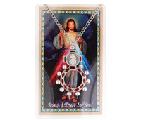 (PSD9422) DIVINE MERCY ROSARY RING AND