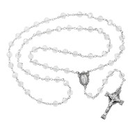 (R400DF) SS 7MM CRYSTAL TINCUT ROSARY