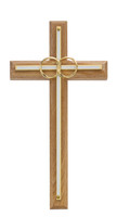 (71-11) 8 OAK W/ WHITE WEDD CROSS""