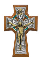 "(80-123) 5 1/2"" WALNUT CELTIC CRUCIFIX"