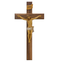 "(80-159) 13"" WALNUT CRUCIFIX ITALIAN"