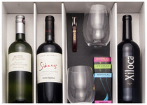 MWC Holiday Gift Package version 2 - 3 wines, 2 glasses & accessories