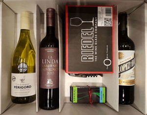 2017 MWC Holiday Gift Package - 3 wines, 2 glasses & accessories