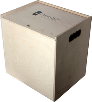Pine Crate Sliding Top - 12 Bottle