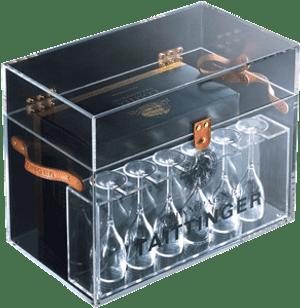 Taittinger 2005 Blanc de Blanc Display Box & 6 Glasses 750ml