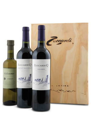 Zuccardi Q Wooden Gift Box 750ml