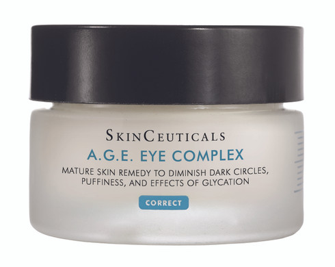 SkinCeuticals A.G.E. Eye Complex reduces wrinkles, dark circles and skin damage around the eye.