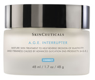 SkinCeuticals A.G.E. Interrupter improves thinning skin and corrects lines and wrinkles.