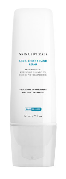 SkinCeuticals Neck Chest & Hand Repair brightens skin and reduces age spots