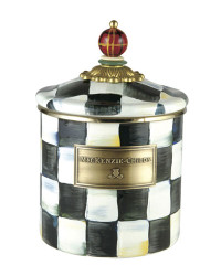 MacKenzie-Childs Courtly Check Small Canister