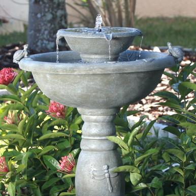 Country Gardens Solar 2-Tier Fountain