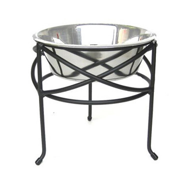 Mesh Single-Bowl Raised Dog Feeder