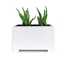 Alora Rectangular Metal Outdoor Planter 24x15x15