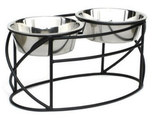 Oval Cross Raised Dog Feeder