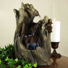 Cascading Caves Waterfall Tabletop Fountain w/ LED Lights