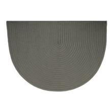 46x31 Half Round Braided Hearth Rug - Gray