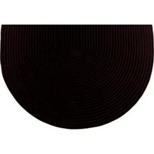 46x31 Half Round Braided Hearth Rug - Black
