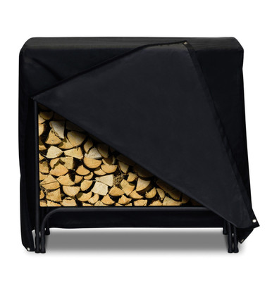 """Two Dogs 48"""" Log Rack Cover - Black"""