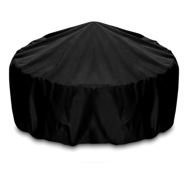 """Two Dogs 36"""" Fire Pit Cover - Black"""