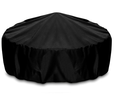 "Two Dogs 48"" Fire Pit Cover - Black"
