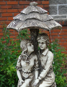 Lovers Umbrella Solar On Demand Fountain with LED Light