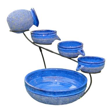 Cascade Solar Fountain - Blueberry